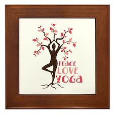PEACE LOVE YOGA Framed Tile