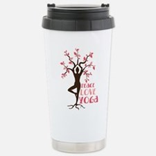 PEACE LOVE YOGA Travel Mug