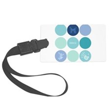 Fringe Glyph Circles Luggage Tag