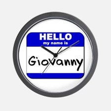 hello my name is giovanny  Wall Clock