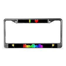 I Love Handbells License Plate Frame