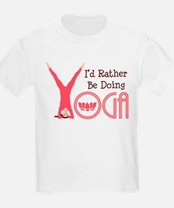 Id Rather Be Doing YOGA T-Shirt