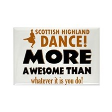 Scottish highland dance is awesome Rectangle Magne