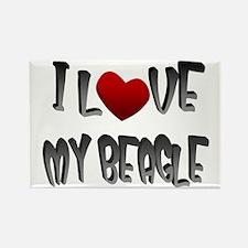 Beagle dog lover Rectangle Magnet