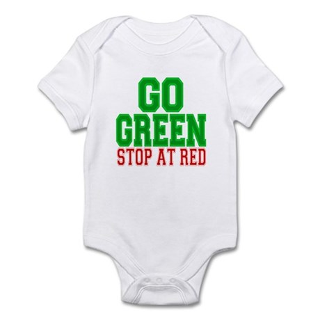 Go Green, Stop at Red Infant Bodysuit