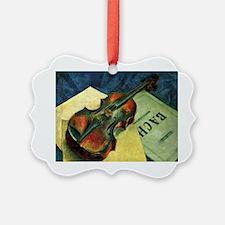 Violin, 1921 painting by Kuzma Pe Ornament