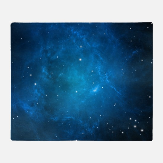 Blue Space Throw Blanket