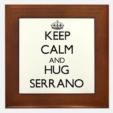 Keep calm and Hug Serrano Framed Tile