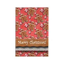 Gingerbread Men Cookies Candies Red Magnets