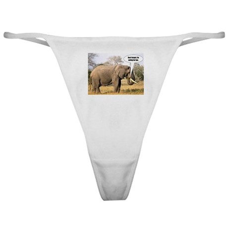 I'm eating for two - elephant Classic Thong
