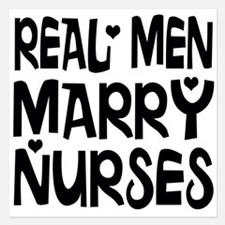 Real men marry nurses Invitations