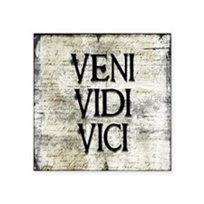"""Veni Vidi Vici Square Sticker 3"""" x 3"""""""