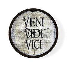 Veni Vidi Vici Wall Clock