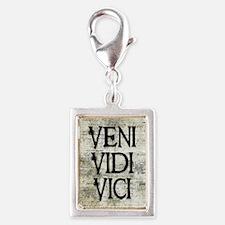 Veni Vidi Vici Silver Portrait Charm