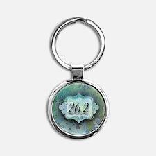 26.2, Marathon by Vetro Jewelry & D Round Keychain
