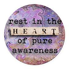 Yoga, Heart by Vetro Jewelry & De Round Car Magnet