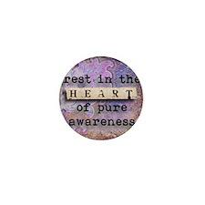 Yoga, Heart by Vetro Jewelry & Designs Mini Button