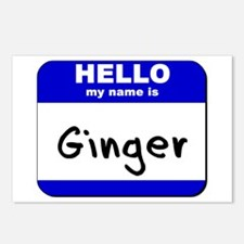 hello my name is ginger  Postcards (Package of 8)