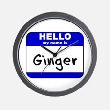 hello my name is ginger  Wall Clock