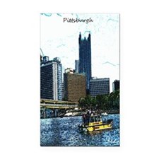 Pittsburgh Sketch Rectangle Car Magnet