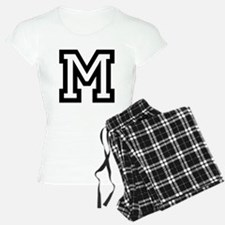 Personalized Monogram M Pajamas