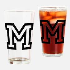 Personalized Monogram M Drinking Glass