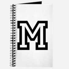Personalized Monogram M Journal | Varsity Letter