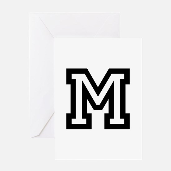 Personalized Monogram M Greeting Cards