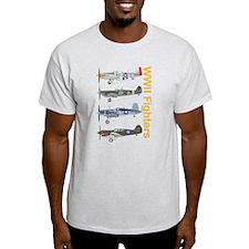 P-51 Mustang Corsair P-40 Spitfire T-Shirt