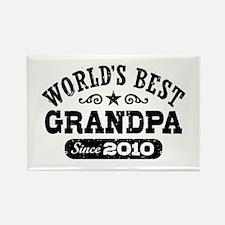 World's Best Grandpa Since 2010 Rectangle Magnet