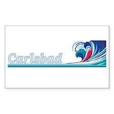 Carlsbad, California Rectangle Decal