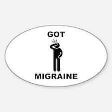 Got Migraine Black Decal