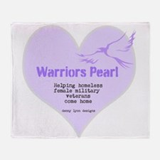 Warriors Pearl Throw Blanket