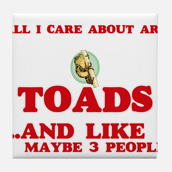 All I care about are Toads Tile Coaster