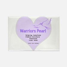 Warriors Pearl Rectangle Magnet