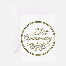 21st Anniversary Greeting Cards