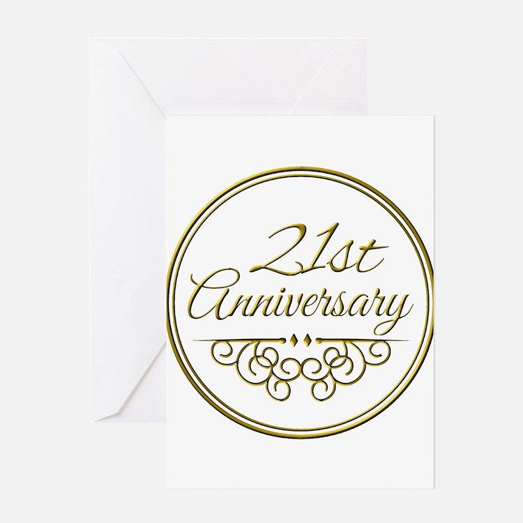 21st Wedding Anniversary 21st Wedding Anniversary Greeting