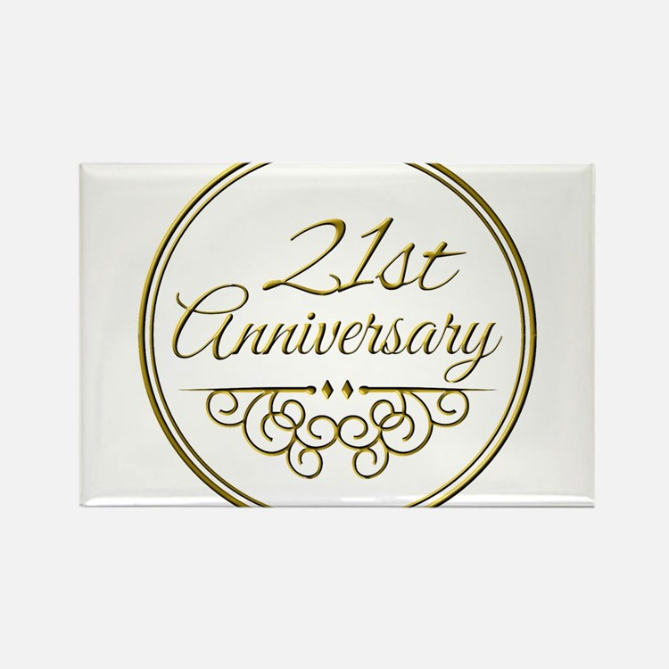 Wedding Anniversary 21st Wedding Anniversary Magnets | 21st Wedding ...