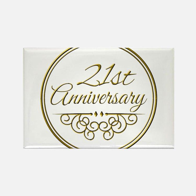21 Wedding Anniversary Gifts: 21St Wedding Anniversary 21st Wedding Anniversary Magnets