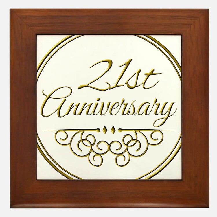21st Anniversary Framed Tile