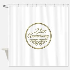 21st Anniversary Shower Curtain