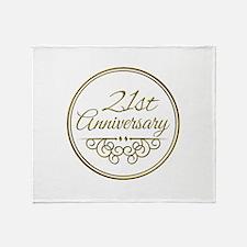 21st Anniversary Throw Blanket