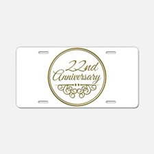 22nd Anniversary Aluminum License Plate