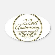 22nd Anniversary Oval Car Magnet