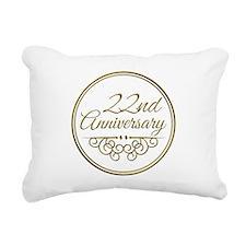 22nd Anniversary Rectangular Canvas Pillow