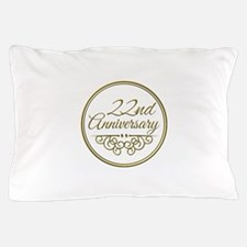22nd Anniversary Pillow Case