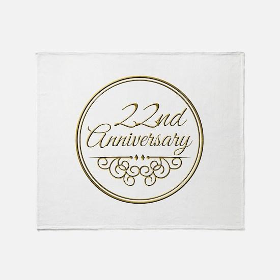 22nd Anniversary Throw Blanket