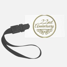22nd Anniversary Luggage Tag