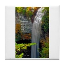 Waterfall Blessings Tile Coaster