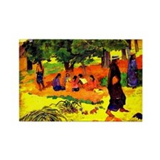 Gauguin - Taperaa Mahana, Paul Ga Rectangle Magnet